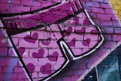 Arte da rua short foto de stock