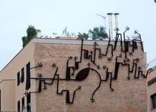 Arte da rua - telhado Fotos de Stock Royalty Free