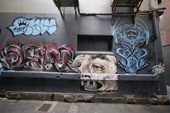 A arte da rua é uma da atração de turistas principal em Melbourne Foto de Stock Royalty Free
