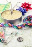 Arte da tecelagem e do ornamento Fotografia de Stock