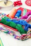 Arte da tecelagem e do ornamento Imagens de Stock