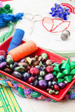 Arte da tecelagem e do ornamento Fotografia de Stock Royalty Free