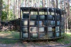 Arte da televisão Fotografia de Stock