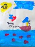 Arte das crianças Fotografia de Stock