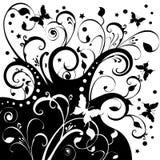 Arte das estrelas das flores de borboletas Fotos de Stock