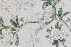 Arte das flores na textura concreta do fundo Imagem de Stock Royalty Free