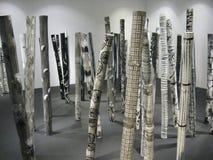 Arte de bambú en el museo de Ayala, zona verde de Makati, ciudad de Makati foto de archivo