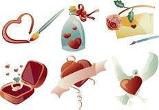 Arte de clip de la tarjeta del día de San Valentín 03 (vector) Foto de archivo libre de regalías