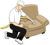 Arte de clip de la tecnología de la limpieza de la tapicería Imagenes de archivo