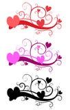 Arte de clip decorativo del día de tarjeta del día de San Valentín ilustración del vector