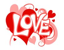 Arte de clip del corazón del amor del día de tarjeta del día de San Valentín Foto de archivo