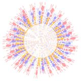 Arte de clip teñido lazo de la insignia del círculo Fotografía de archivo