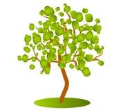 Arte de clip verde abstracto del árbol Imágenes de archivo libres de regalías