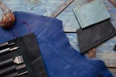 Arte de cuero y trabajo de cuero Fotografía de archivo