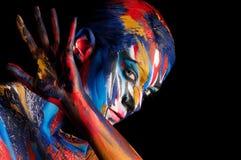 Arte de cuerpo del color de la belleza de la moda Foto de archivo libre de regalías
