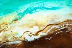 Arte de derramamento fluida da resina fotos de stock