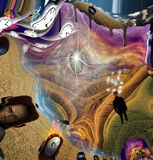 Arte de derretimento surreal Imagens de Stock Royalty Free