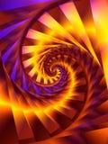 Arte de Digitaces del fractal del remolino del espiral del oro foto de archivo libre de regalías