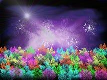 Arte de Digitas: Arbusto da galáxia imagens de stock royalty free