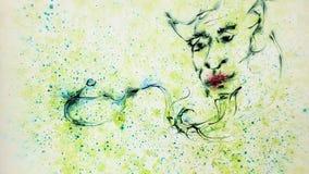 Arte de Ebru de genios y de la lámpara mágica de Aladdin libre illustration