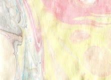 Arte de Ebru Pintura na água Foto de Stock Royalty Free
