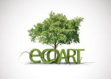 Arte de Eco Fotografia de Stock