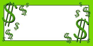 Arte de grampo 3 do dinheiro dos sinais de dólar Foto de Stock