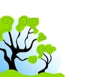 Arte de grampo abstrata da árvore ilustração royalty free
