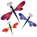Arte de grampo abstrata da libélula Foto de Stock Royalty Free