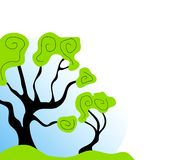 Arte de grampo abstrata da árvore Fotografia de Stock