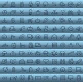Arte de grampo ajustada no azul Imagens de Stock