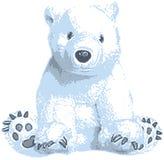 Arte de grampo bonito do urso polar Foto de Stock
