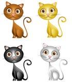 Arte de grampo bonito dos gatinhos ilustração royalty free