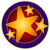 Arte de grampo brilhante do círculo das estrelas Fotografia de Stock Royalty Free