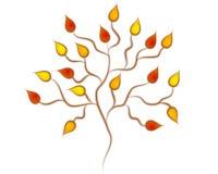 Arte de grampo da árvore do outono da queda Foto de Stock Royalty Free