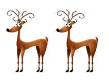 Arte de grampo da rena dos desenhos animados Imagem de Stock Royalty Free
