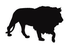 Arte de grampo da silhueta do leão… do rei da floresta Fotografia de Stock Royalty Free