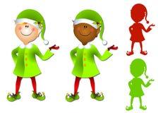 Arte de grampo de sorriso do duende de Santa dos desenhos animados fotografia de stock royalty free