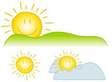 Arte de grampo de Sun do smiley ilustração do vetor
