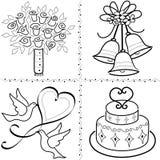 Arte de grampo do casamento ajustada/eps Fotos de Stock Royalty Free