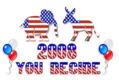 Arte de grampo do dia de eleição 2008 Foto de Stock Royalty Free