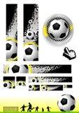 Arte de grampo do futebol Fotografia de Stock