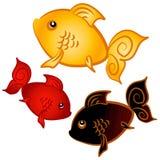 Arte de grampo do Goldfish da natação ilustração do vetor
