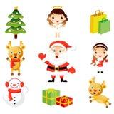 Arte de grampo do Natal Imagens de Stock