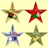 Arte de grampo do Natal Imagens de Stock Royalty Free