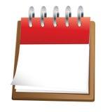 Arte de grampo em branco do calendário Imagens de Stock Royalty Free