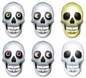 Arte de grampo humana dos crânios Imagens de Stock Royalty Free