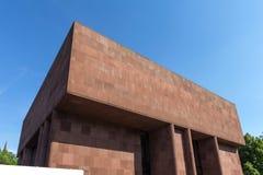 Arte de Kunsthalle que constrói Bielefeld Alemanha fotografia de stock royalty free