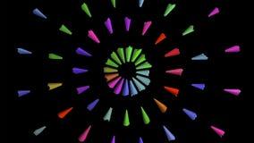 Arte de lápices coloreados, en fondo negro, profundidad del campo baja imagen de archivo
