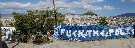 Arte de la calle de Atenas Grecia Imagenes de archivo